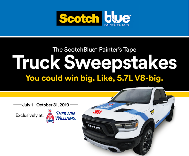 ScotchBlue Painter's Tape is giving away a brand new 2019 Ram Rebel truck worth FIFTY THOUSAND DOLLARS to one lucky winner!