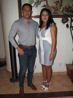 Liliana Rodríguez y Román Aguilar.