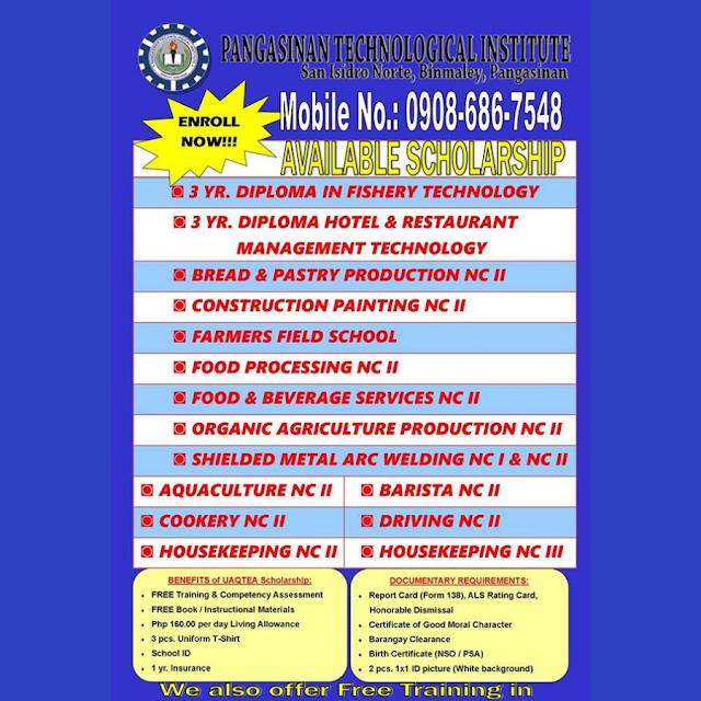 15 Courses   UAQTEA Scholarship