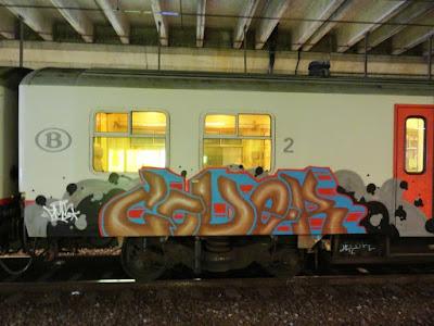 decorated train