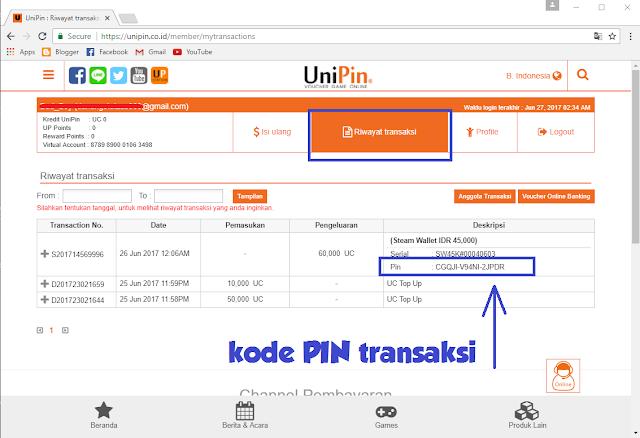 Kode Transaksi Unipin