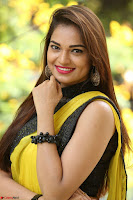 Cute Actress Ashwini in Yellow Saree Exclusive  011.JPG