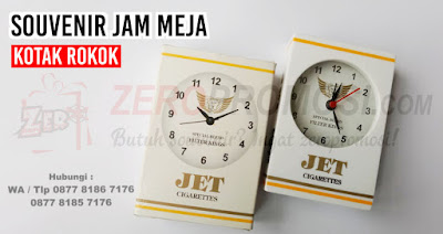 Souvenir Jam Meja bentuk Kotak Rokok, Jam Meja Promosi 050, Souvenir unik Jam Meja Kotak Rokok