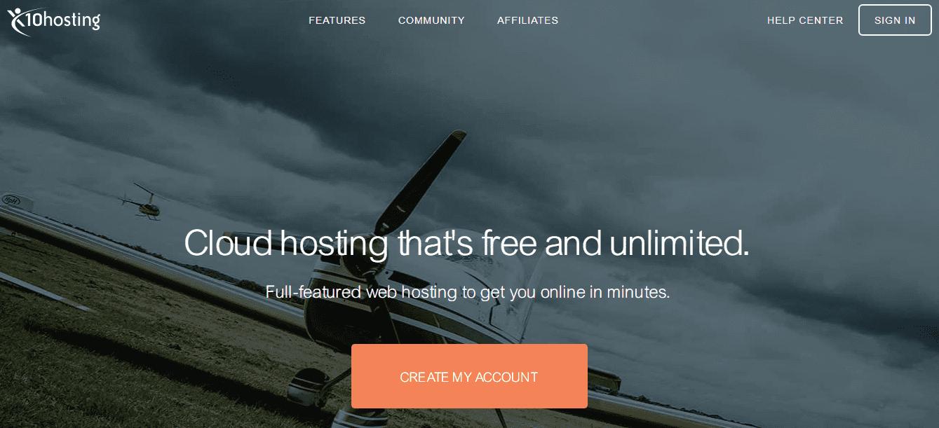 x10hosting penyedia hosting gratis