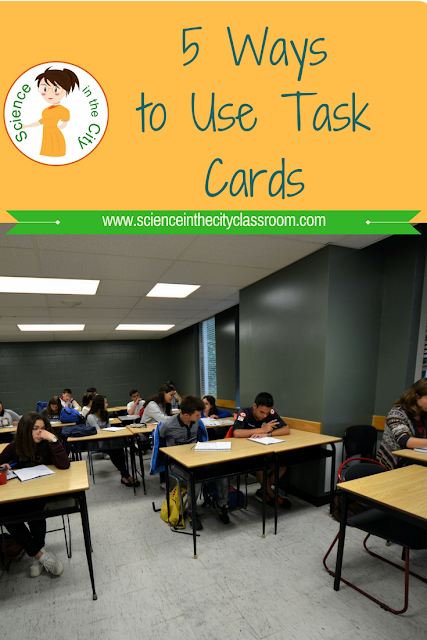 Blog Post with 5 different ways to use task cards in the classroom