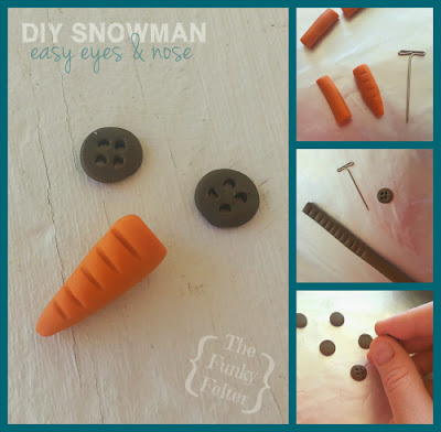 making polymer clay carrot eyes and button nose craft tutorial instructions