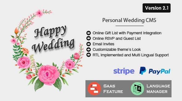 Happy Wedding v2.1 - Personal Wedding & Invitation CMS