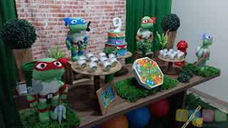 Decoração festa infantil Tartarugas Ninja Porto Alegre