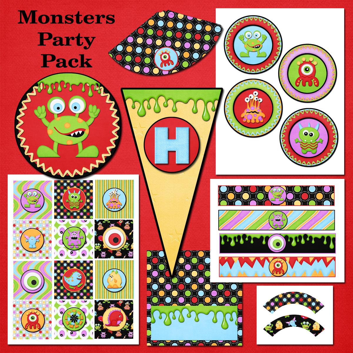 Flipchick Designs Free Monster Printable