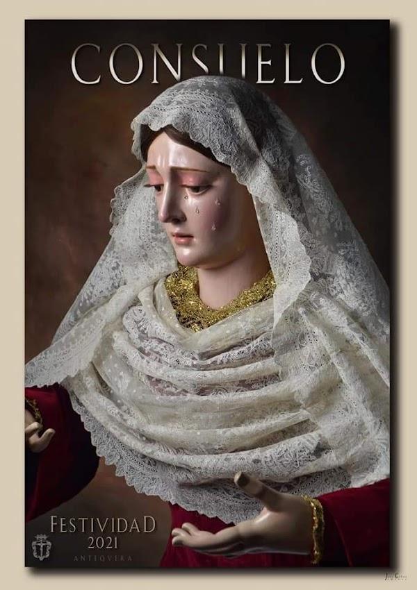 Cartel de Cultos en honor y gloria a Nuestra Señora del Consuelo 2021 de Antequera