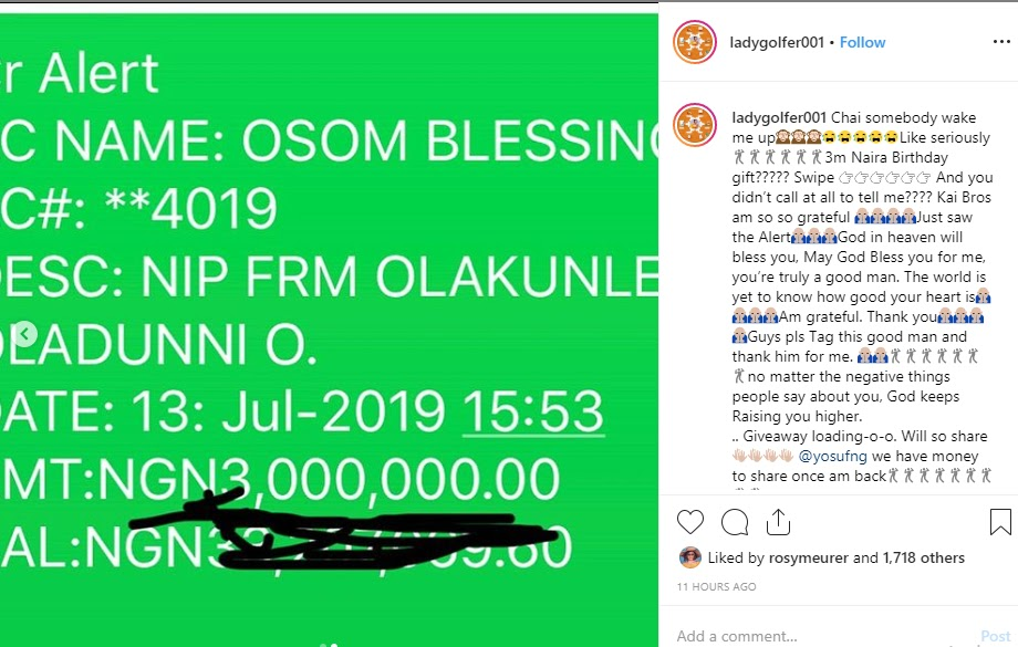 Tonto Dikeh's Ex-Friend Blessing Osom Receives N3m Birthday Gift From Churchill