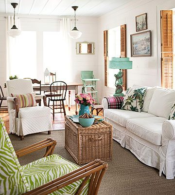 colorful beach cottage