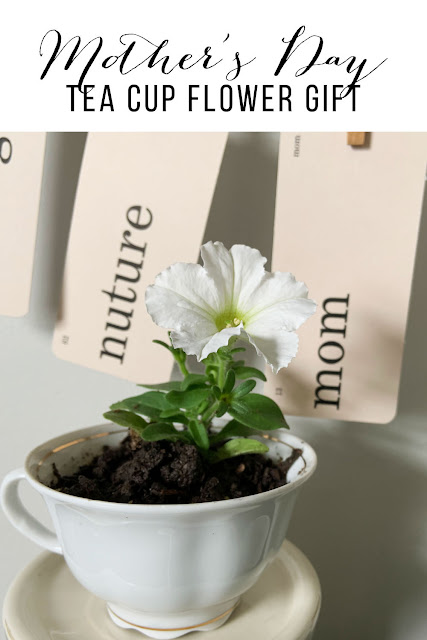 Mother's Day Tea Cup Flower Gift Pinterest Pin.
