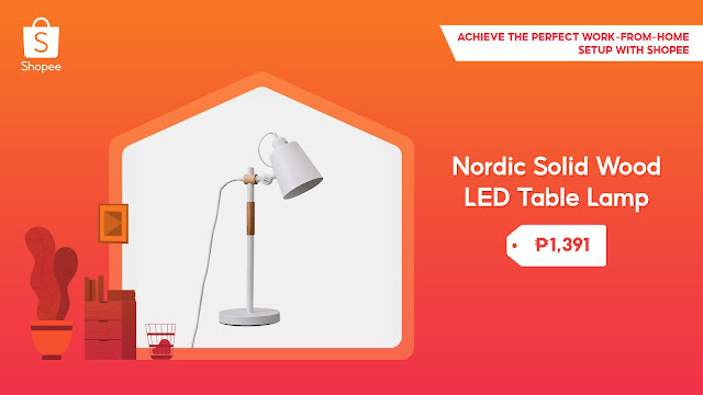Nordic Solid Wood LED Table Lamp