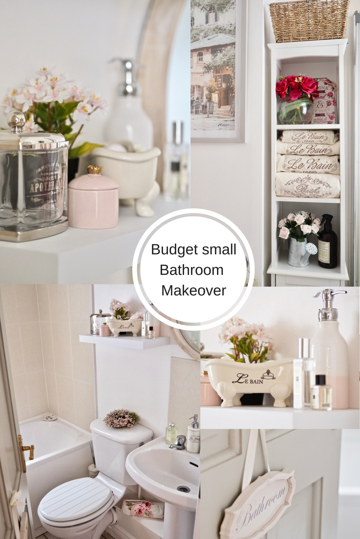 Small Bathroom Makeover My Budget Small Bathroom Makeover Dainty Dress Diaries