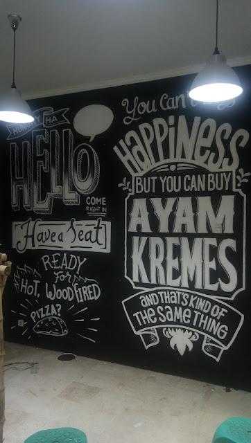 Lukis mural jalan Bangka Jakarta