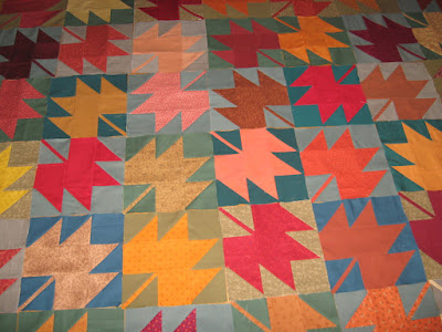 maple leaf blocks for quilt