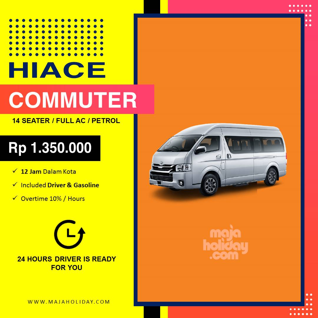 Gambar Sewa Mobil Toyota Hiace Commuter 2021