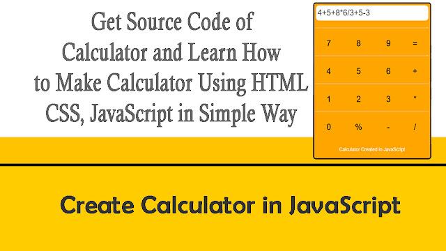 Create calculator Javascript