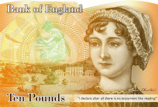 Bank of England Note Featuring Jane Austen