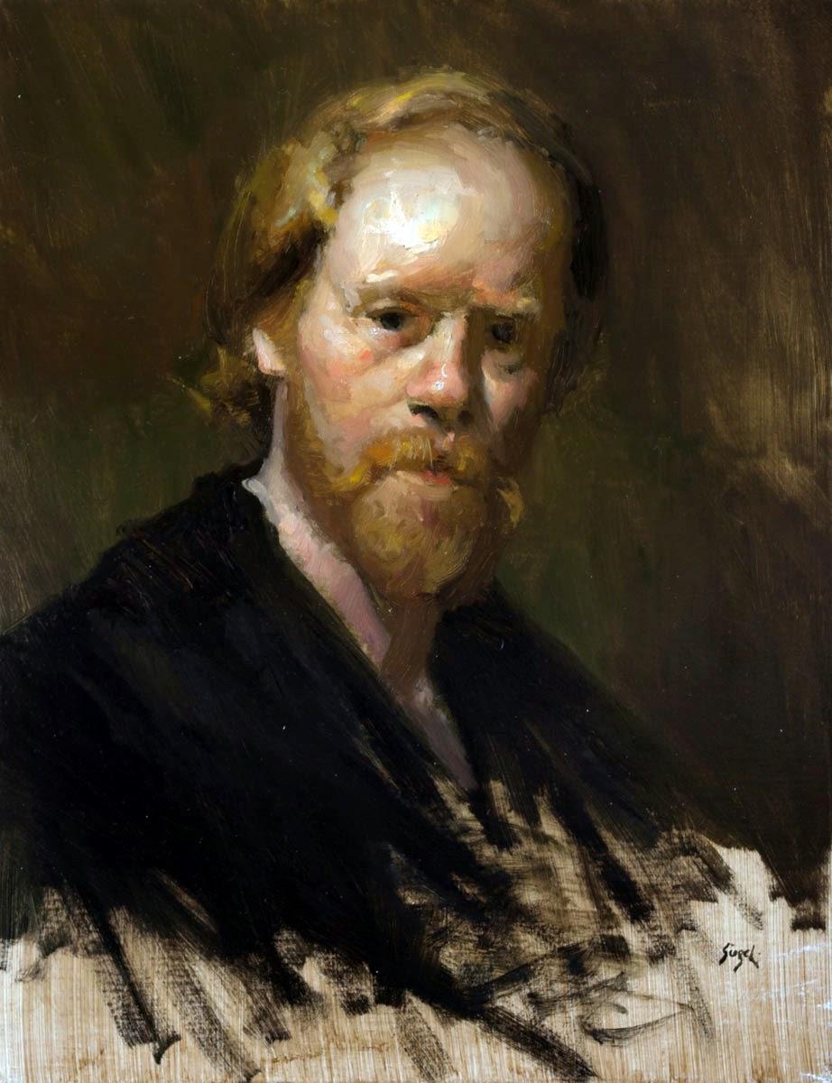 MicMichael Siegel, Self Portrait, Portraits of Painters, Fine arts, Painter Michael Siegel