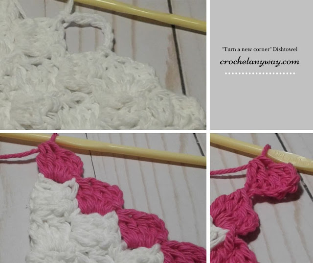 crochet c2c hanging towel