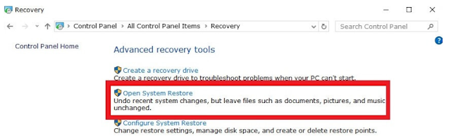 Open System Restore