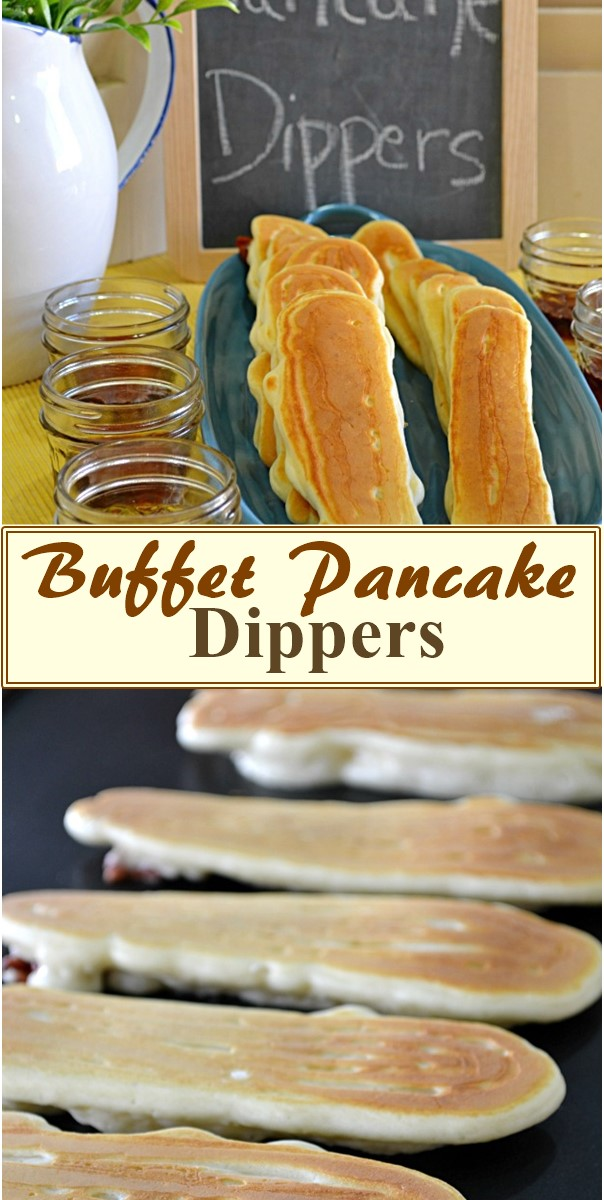 Buffet Pancake Dippers #breakfastideas