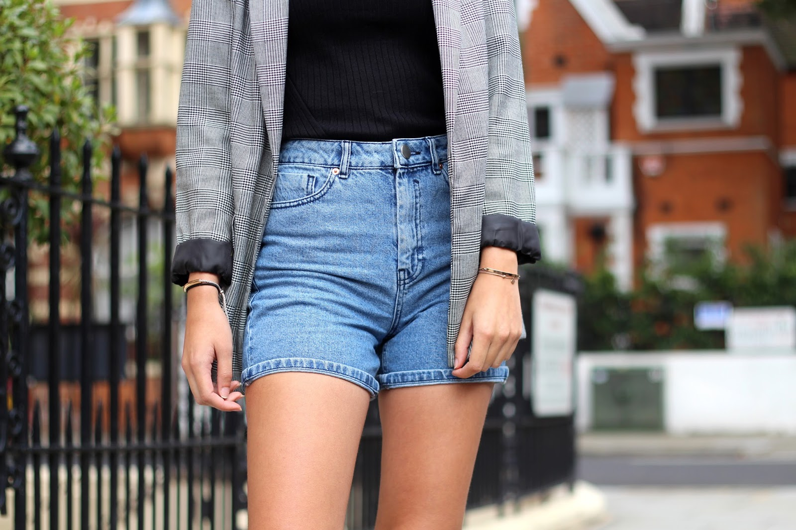 asos denim mom shorts peexo fashion blogger