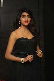 Shalu Chourasiya in spicy Sleeveless Strapless Black Top at O Pilla Nee Valla Movie Audio Launch Feb 2017 060.JPG