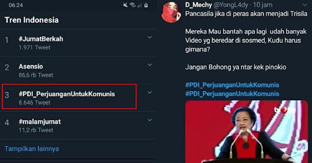 GEGER! Trending #PDI_PerjuanganUntukKomunis, Ada Apa?