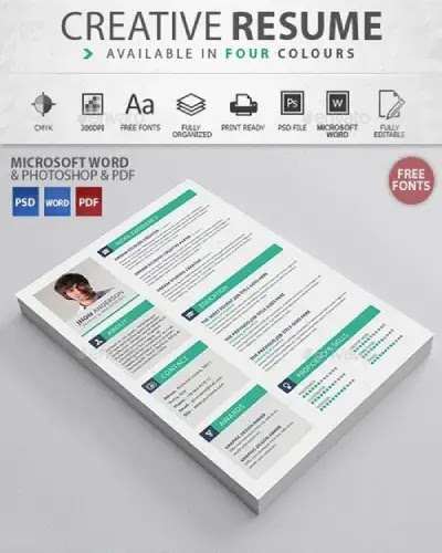 download cv template pdf