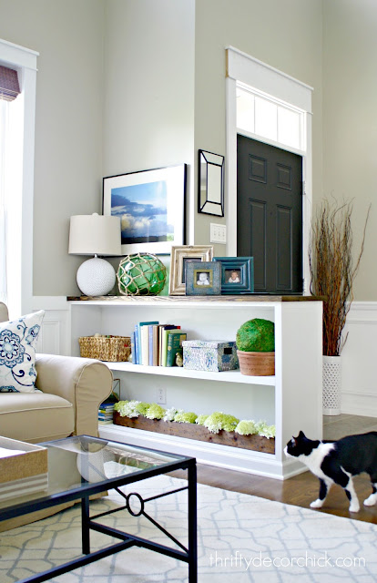 half wall bookcase