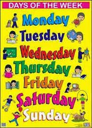 أيام الاسبوع - تعليم الانجليزية بسهولة