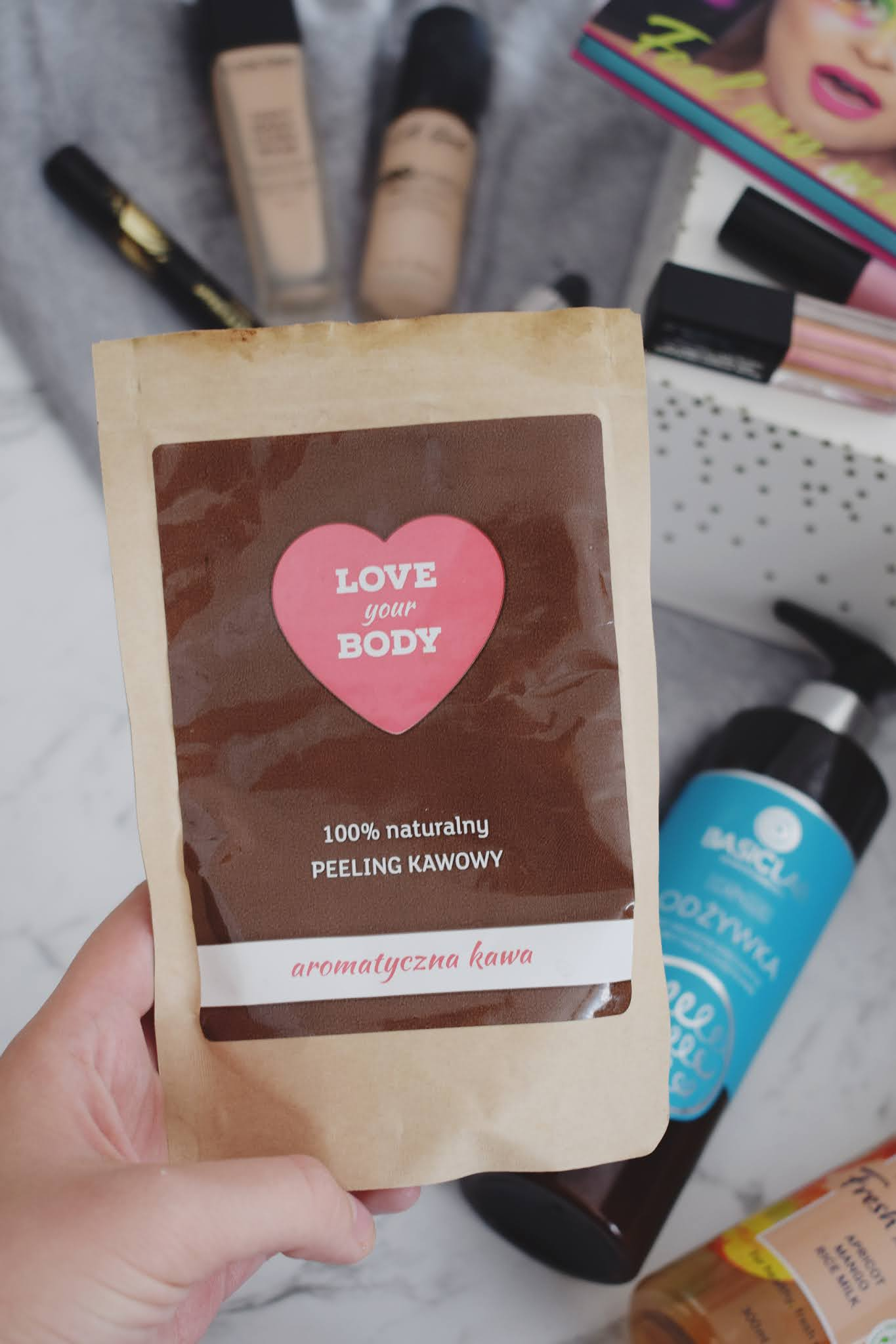 love your body peeling kawowy