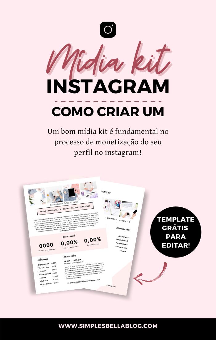 Como criar um mídia kit para o instagram