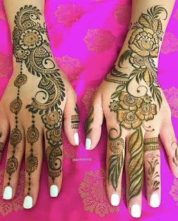 Hindu New simple mehndi design