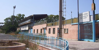The now-abandoned Pista d'Oro karting circuit just outside Rome, where De Cesaris once raced