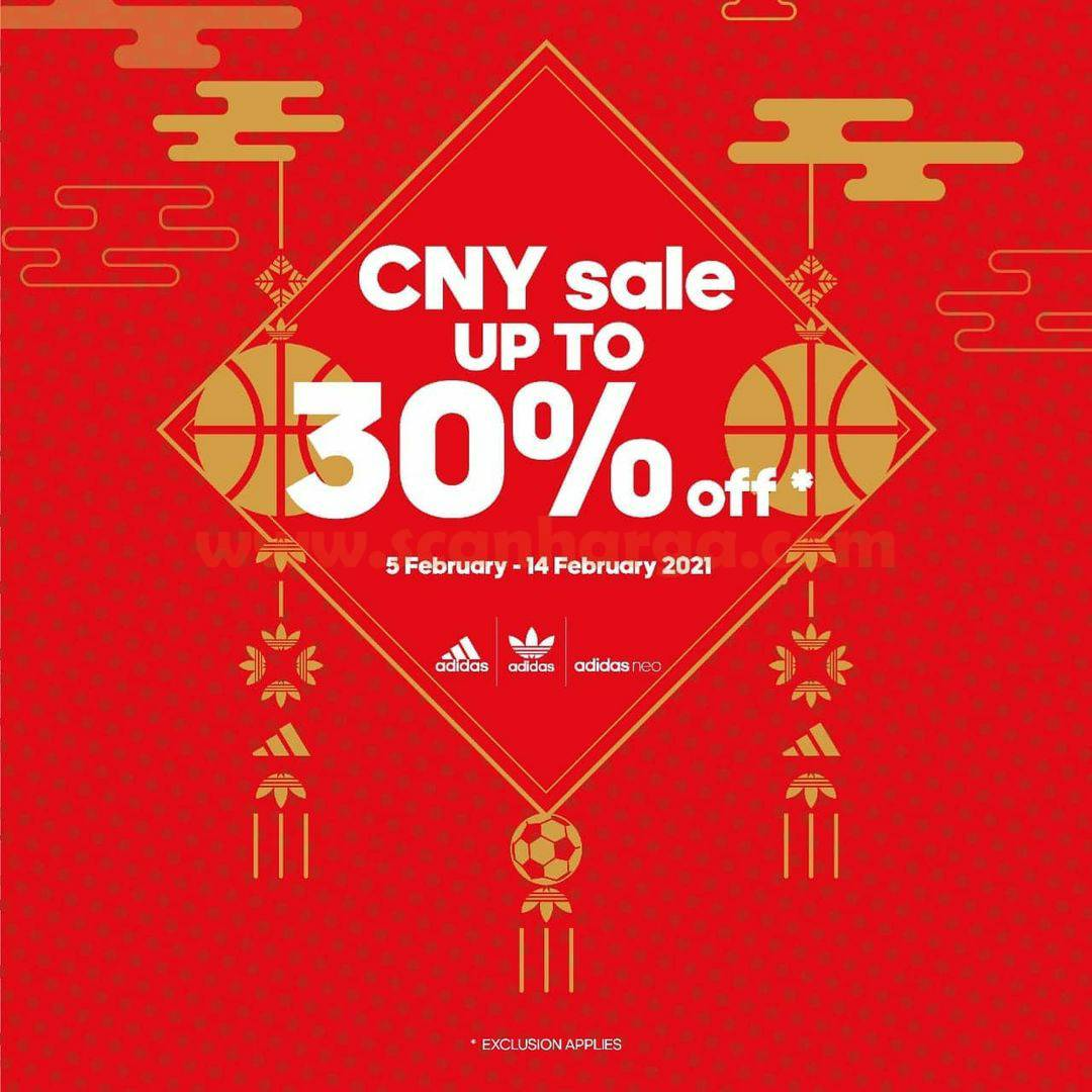ADIDAS Promo Lunar New Year Sale! Discount up to 30% Off