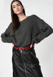 Pepe Jeans - Дамски черен Пуловер с вълна