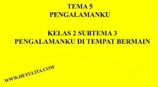 Soal kelas 2 tema 5 subema 3