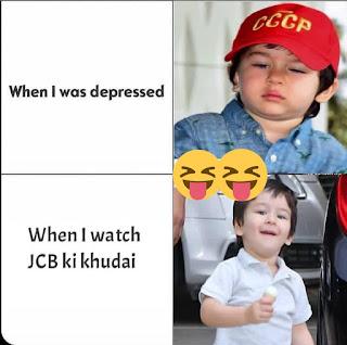 JCB ki Khudai Memes