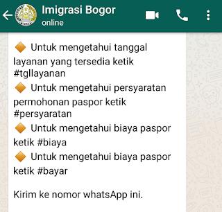 cara membuat paspor lewat whatsapp