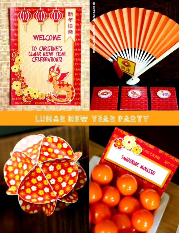 A Colorful Chinese New Year Party - via BirdsParty.com