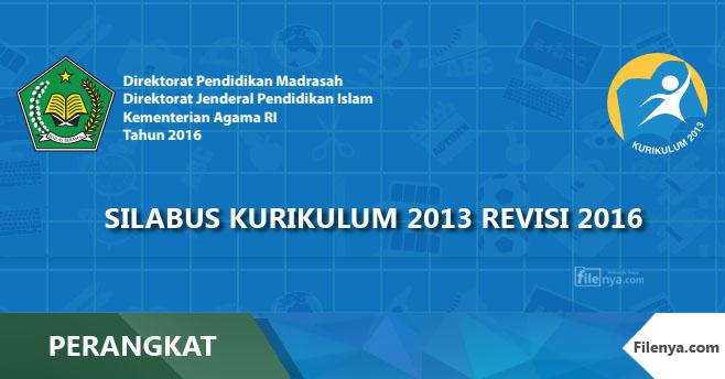 Silabus MI,MTs,MA Agama Kurikulum 2013 Revisi 2016
