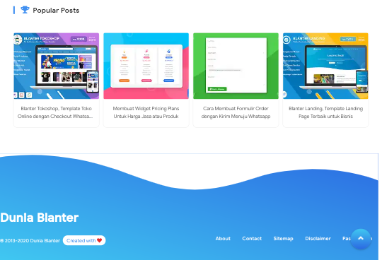 Idblanter Premium Blogger Template Free Download |