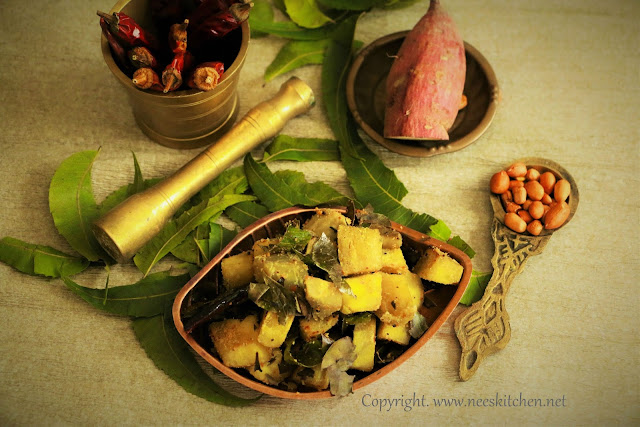 Sweet Potato & Neem Leaves Curry