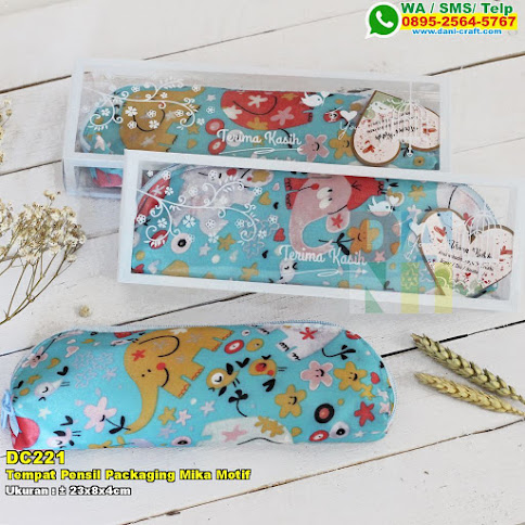 Tempat Pensil Packaging Mika Motif
