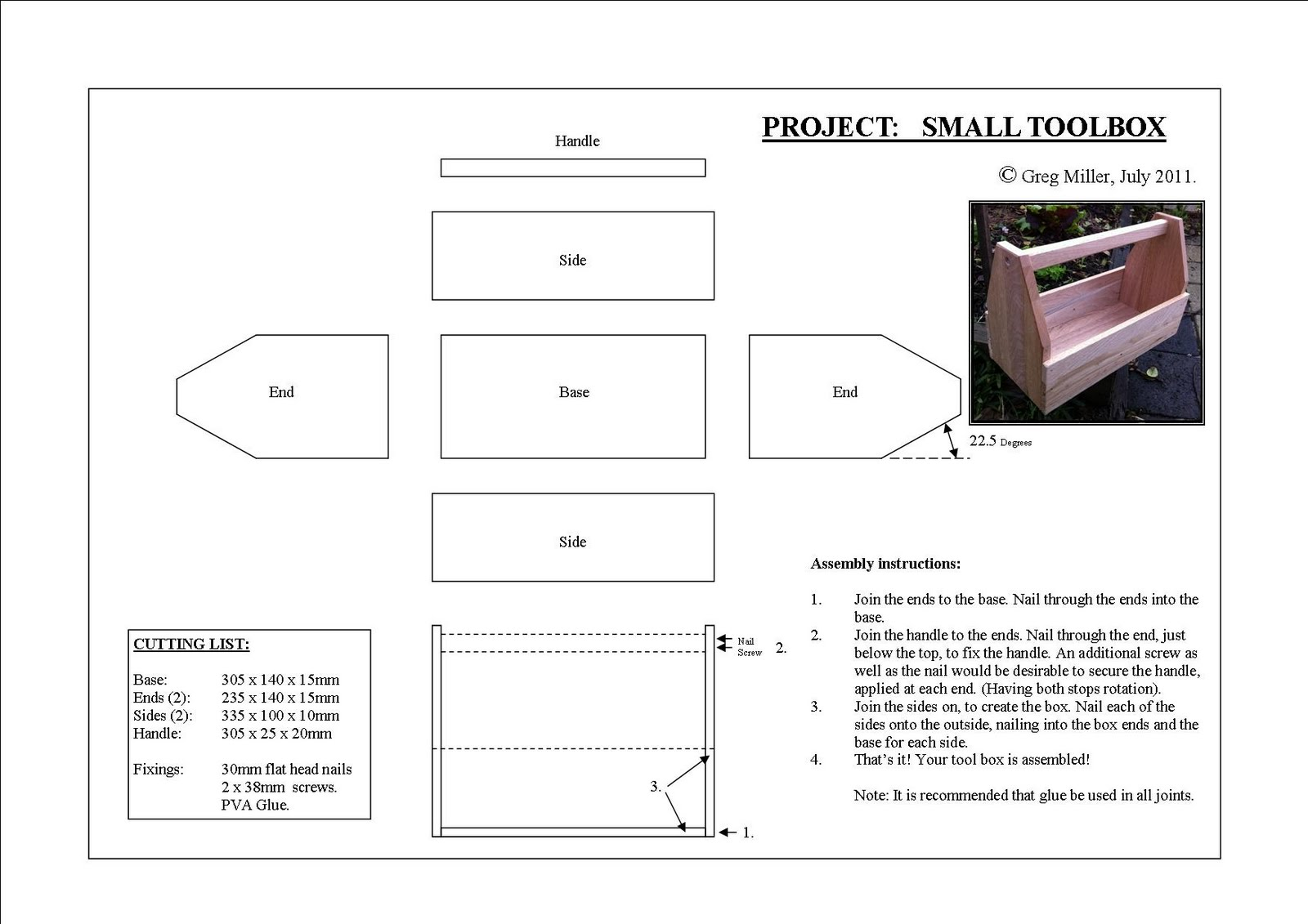 Kids Wooden Tool Box Plans PDF Woodworking