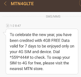Mtn 4gb of data for free